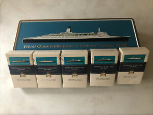 RMS QE2 Maiden Voyage Rothmans Cigarette Tin