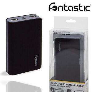 Fonetastic 6600mAh Power Bank Led Dual USB Fast Charger Portable Mobile Battery