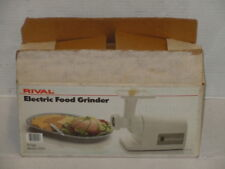 Vintage Rival Food Grinder White Complete With All Parts Works With Box Clean