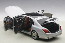 Autoart MERCEDES BENZ MAYBACH S-KLASSE S600 SILVER 1/18 Scale New! In Stock!