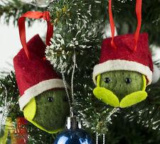Sprout Family! 5PCS Mini with Santa Hats Felt Christmas Tree Decorations