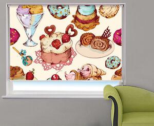 Cakes & Ice Cream Design Food Kitchen Pattern Picture Photo window roller blind