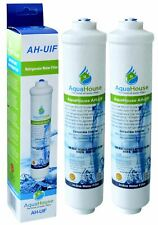 "2x Compatible Fridge Water Filter for Rangemaster Beko Bosch Haier Fridge 1/4"""
