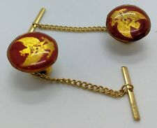 Indonesia Military Army Officer Tni Tentara Nasional Cufflinks Red Pair New
