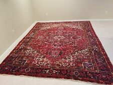 Circa 1900 - 1920 ANTIQUE HERIZ SOFT WOOL, HANDWOVEN RUG, VEGETABLE NATURAL DYES
