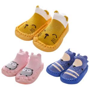 Baby Girls Boys Toddler Anti-slip Slippers Socks Shoes Winter Warm