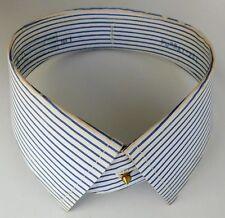 "Detachable blue striped shirt collars 16.5"" Trubenised vintage 1940s 1950s"