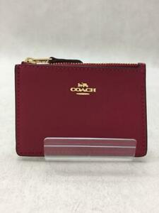 COACH  Leather  Leather Bordeaux Fashion Card case 279 From Japan