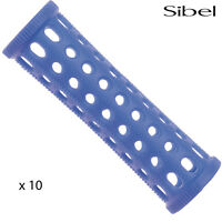 Sibel 10 x 20mm BLUE Hair Setting Curl Rollers & Roller Pins Skelox Hair Curler