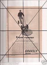 Vintage 1965 Popular Mechanics Magazine Ad A126 Gravely Front Runner True Temper