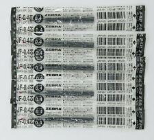Zebra sarasa JF-0.4mm roller gel pen BLACK (RJF4-BL)5 pcs refill (I)