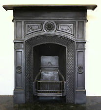 Original Restored Antique Victorian Cast Iron Bedroom Fireplace Small (PK077)