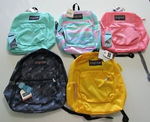 Jansport Cross Town Backpack School Bag Bottle Pocket Nwt