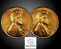 (2) Coins 1958 P D Lincoln Wheat Cent Set BU Red Set or Collection