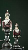 Nußknacker  Deko Figur Rot Silber 40cm  Weihnachten Shabby  Vintage