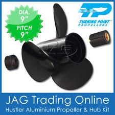 "JOHNSON EVINRUDE PROP 9"" x 9 Pitch -  8hp 9.9hp 15hp 3 Blade Aluminium Propeller"