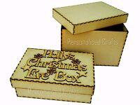 Personalised Children's MDF Christmas Eve Box Xmas Eve Gift Box Any Name 2 Sizes