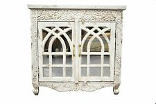 Carved Shabby Chic French Country Sideboard Storage Cabinet Vanity Hamptons