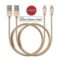 (2-Pack) Lightning Cable Charger for iPhone iPad, Apple MFi Certified 5ft