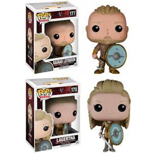 Vikings #177 Ragnar Lothbrok #178 Lagerta Action Figure TV Series Funko POP