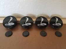 4 Extremely Rare Design Ford Cobra Center Caps. New Old Stock Part #TC-005