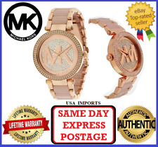 Michael Kors Parker Crystal Pave Logo Dial Ladies Watch MK6176
