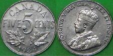 1934 Canada Nickel Graded as Very Fine