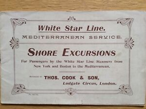 White Star Line shore excursions brochure mentions Titanic