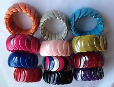 New Colour ful Fashion Bracelet Stretchy Bangle Multi Bead Funky Cord fits all