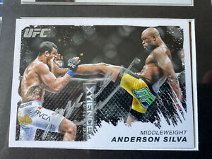 Anderson Silva Signed Topps UFC Moment Of Truth Trading Card
