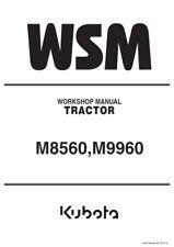 KUBOTA TRACTOR M8560 M9960 WORKSHOP SERVICE MANUAL REPRINTED 2012