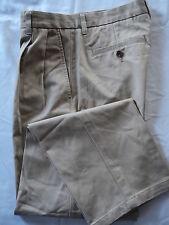 MENS ST JOHNS BAY 30X30 BROWN TAN PLEATED CASUAL DRESS PANTS SLACKS EUC