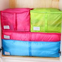 Large Storage Bag Box Clothes Quilt/Duvet Bedding Laundry Pillows Zipped Handles