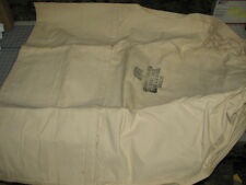 laundry bag soiled clothes self closing ropeless US military NOS white canvas