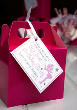 PRINCESS PARTY BAGS - PERSONALISED FAIRY LOOT BOX TAGS - PINK FAIRY PARTY - 8