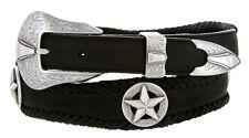 Johnson Star Cowboy Conchos 100% Genuine Durable Leather Western Scallop Belt