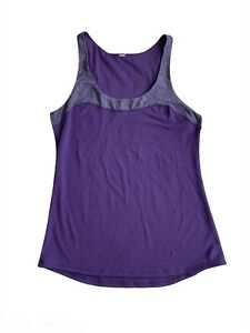 Lululemon Women's Workout Gym Tank Top Size 8 Purple Gray
