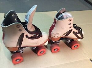 Dominion Commercial Leather Roller Skates, Youth Child Size 12, #12 32