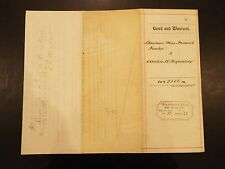 Bond and Warrant Loan Agreement 1881