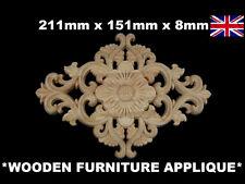Shabby Chic Muebles Decorativos de Madera Puerta Vintage Apliques moldeo Onlay