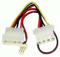 Power Adapter Cable 4 pin Molex Female - 3 pin Fan Lead
