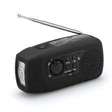 Solar Powered Wind Up Radio / Flashlight / Charger - Mini, Portable & Handheld