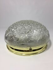 """2 Light Ceiling Direct Electric Fixture Atomic Clear Dome Shade 8-1/2"""" Diameter"""