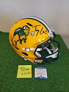 Trey Lance Signed North Dakota State Bison Speed Replica Helmet