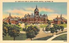 Bird's-Eye View of Johns Hopkins Hospital Baltimore, Maryland Postcard ca 1940s