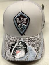 brand new ae366 214ad MLS COLORADO RAPIDS AUTHENTIC TEAM STRUCTURED MEN S HAT WHITE MESH BACH ...