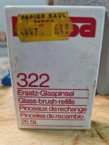 Glaspinsel 25 Stück Ersatz Pinsel für Glasfaserradierer Glasfaserstift
