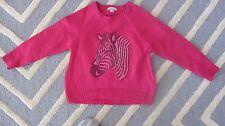 Franki & Jack Girls Sweater Size Small Pink With Zebra Girls Small Sweater