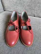 Seasalt Ladies Shoes 5 Wide Fit Red Leather Wheal Martyn Worn Once £75