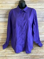 Cruel Girl Western Shirt Size XXL 2XL Womens Purple Long Sleeve Button Down top